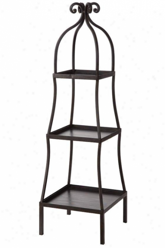 """3-tier Metai Shelf - 13""""hx13""""w, Black"""