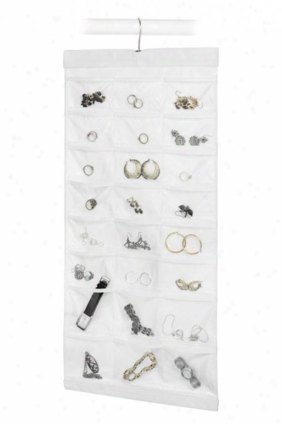 """""""48-pocket Jewelry File - 29""""""""hx14""""""""wx1""""""""d, White"""""""