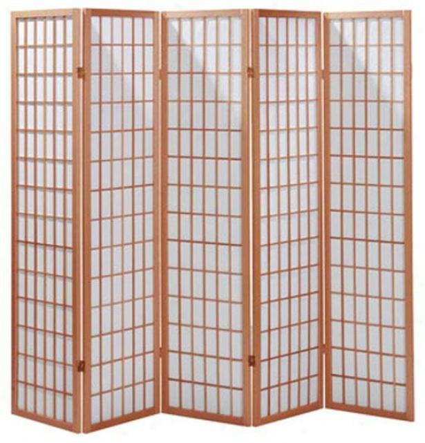 """71"""" 5-panel Classic Room Distributer - 5-panel 71""""h, Tan"""