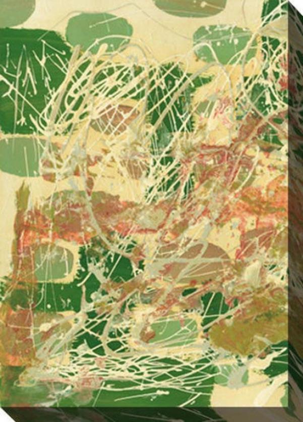 A Way Through I Canvas Wall Creation of beauty - I, Green