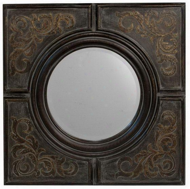 """abelone Mirror - 28""""square, Brown"""