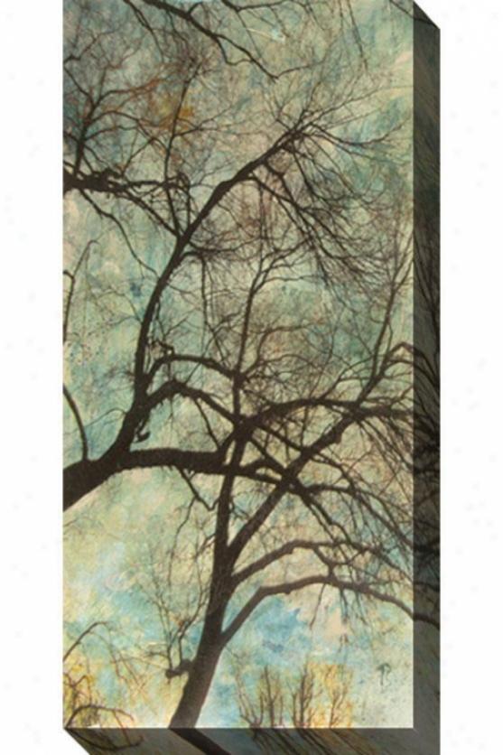 Abstract Trees Vi Canvas Wall Art - Vi, Blue
