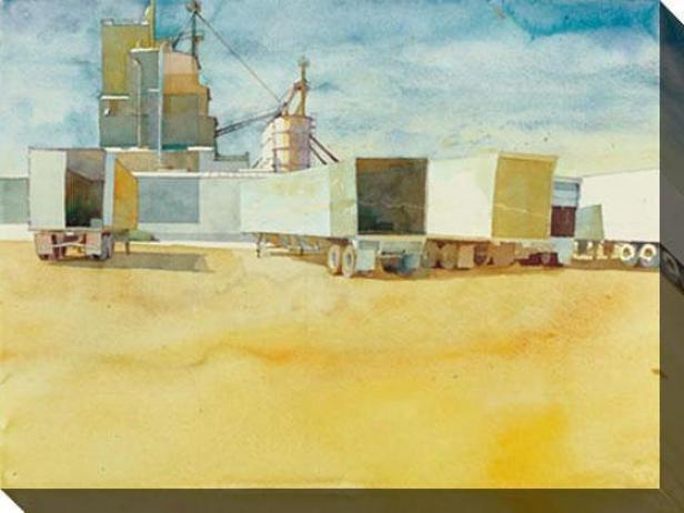 """acoplados Canvas Wall Art - 48""""hx36""""w, Gold"""