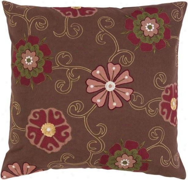Adalyn Decorative Pillow - 18hx18w Into disrepute, Brown