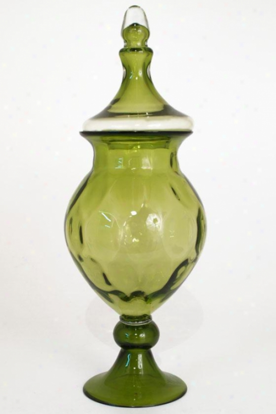 """addison Glass Jar - 21""""h X 8""""rouund, Green"""