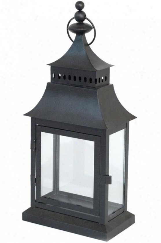 """adeline Lantern - Small: 15h X 7w X 4""""d, Black"""