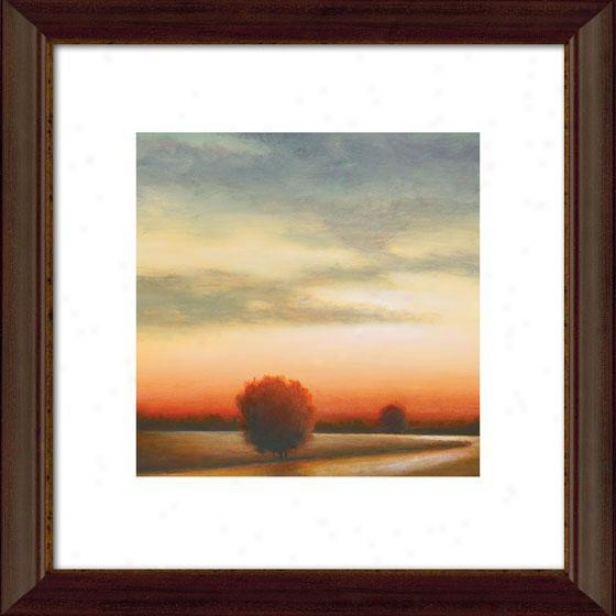 Afternoon Meadow I Framed Wall Art - I, Mtd Atq Wln/gld
