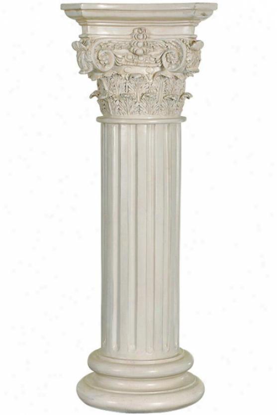 """""""agatha Pedestal - 29""""""""h X 11""""""""round, White"""""""