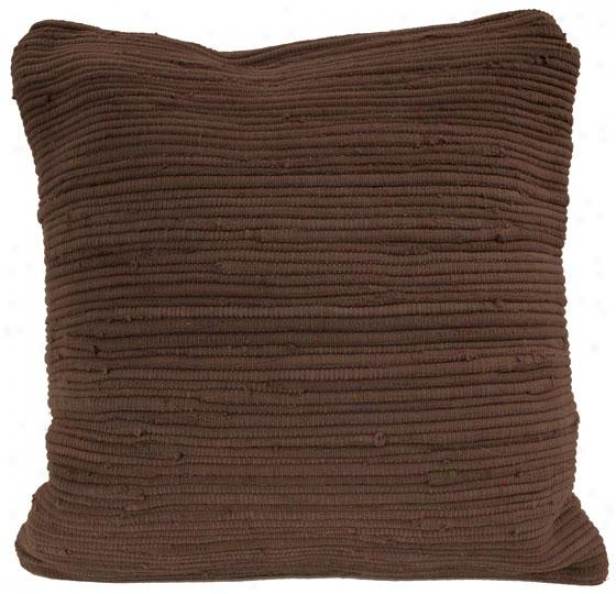 """agra Decorative Pillow - 18"""" Square, Woodland (chocolate)"""