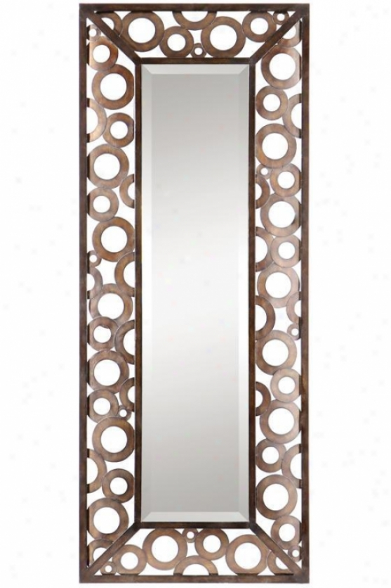 """agusto Mirror - 50""""hx20""""w, Brown"""