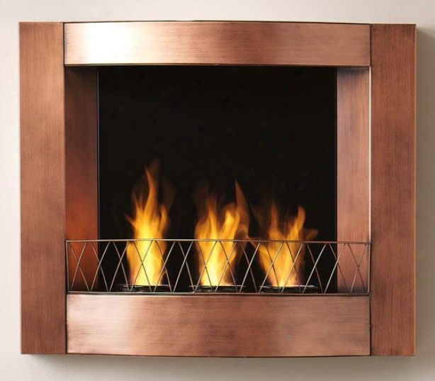 """aidan Wall Mount Fireplace - 27""""wx23""""hx5.5""""d, Small change"""