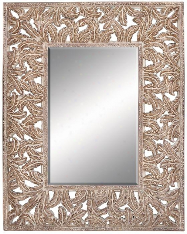 Aiden Wall Mirror - 59hx47w, Tan