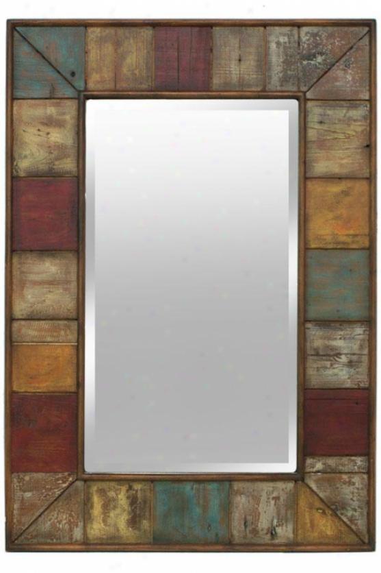 Alena Wall Mirror - 32h X 22w, Multi