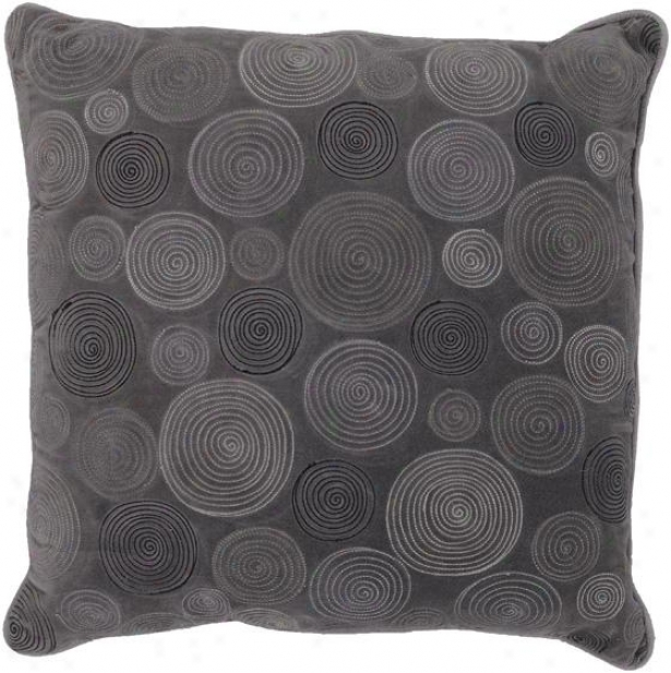 Alexa Decorativve Pillow  -18hx18w Down, Gray