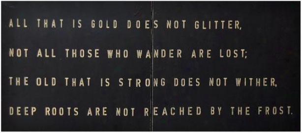 """""""all That Is Gold Wooden Sign - 44 X 20"""""""", Black"""""""