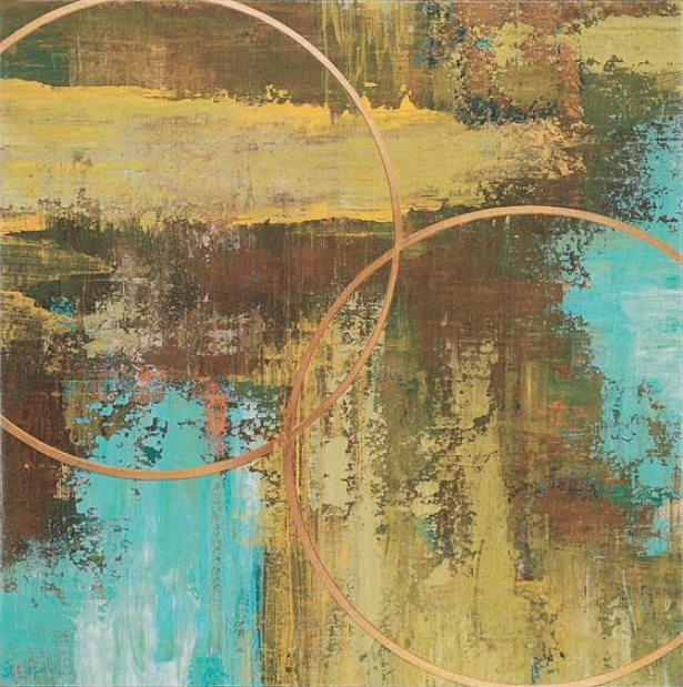 """""""aller Chartreuse Wall Art - 32""""""""squarex2""""""""d, Turquoise"""""""
