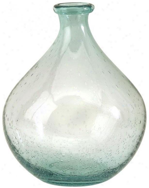 """""""amadour Bubble Glass Bottlee - 10.25""""""""hx8""""""""f, Blue"""""""