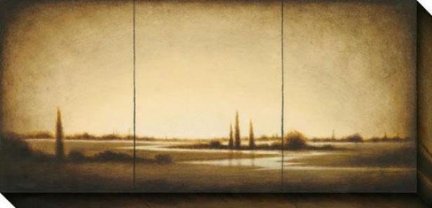Amber Light Ii Canvas Wall Art - Ii, Sepia