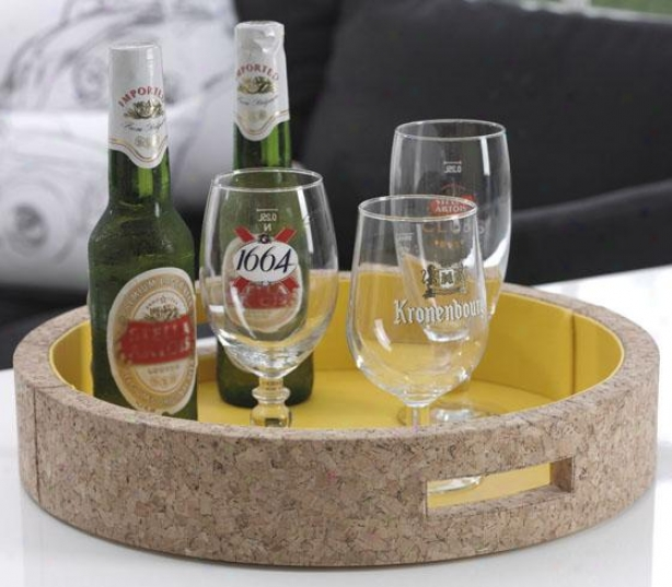 """""""ambrosia Double-walled Serving Tray - 3h X 15""""""""w, Yellow"""""""