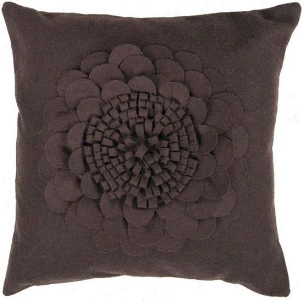 Amelia Decorative Pillow - 18hx18w Poly, Br0wn