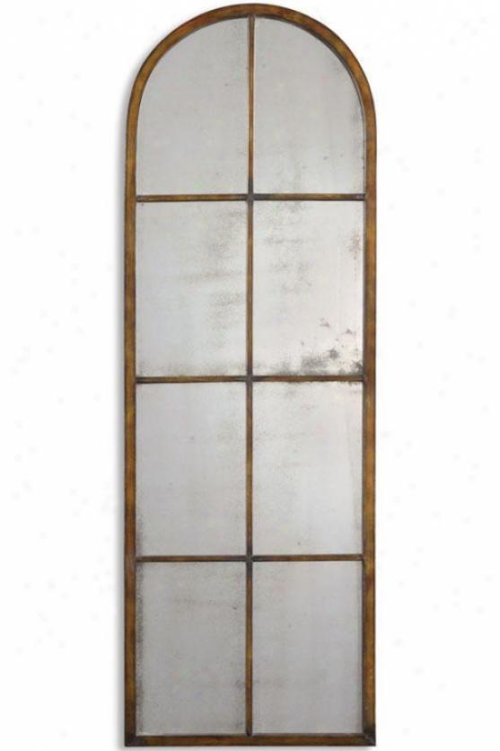 """amiel Arch Mirror - 16""""wx50""""h, Gold"""
