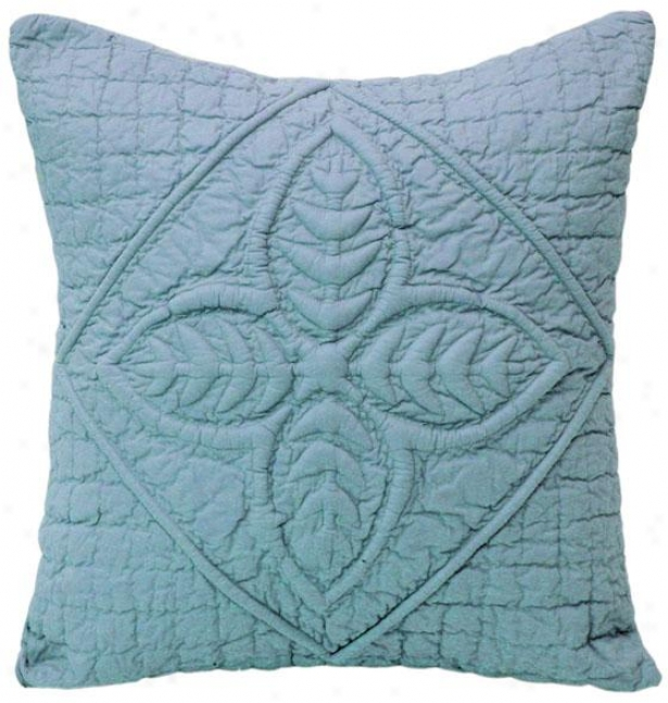 """amish Fern Decorative Pillow - 18"""" Perpendicular, Smoek Blur"""