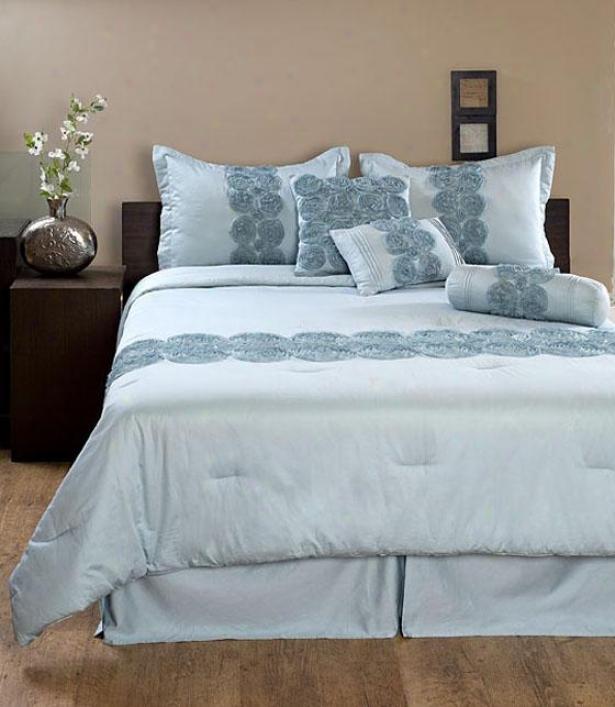 Andj Comforter Set - King, Blue