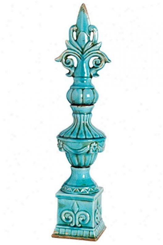 """andrea Finial - 5""""dx23""""h, Blue"""