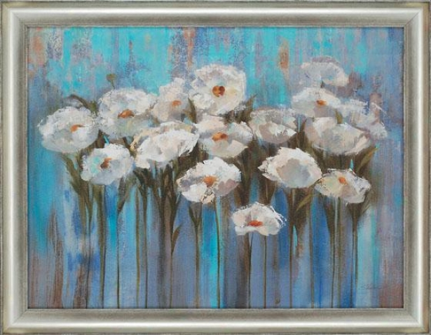"""anemones By The Lake Wall Art - 35""""hx45""""w, Blue"""