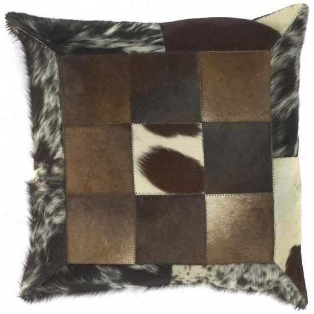 """""""animals Print Pillows With Squares - Set Of 2 - 18""""""""x18"""""""", Brown"""""""