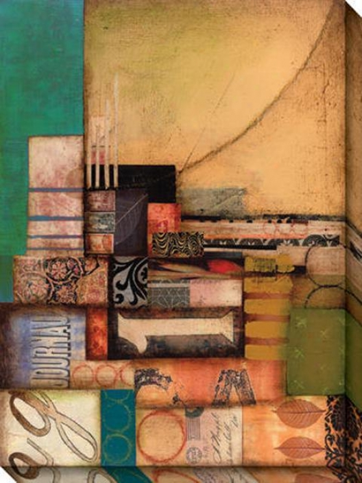 Anthology Ii Canvas Wall Art - Ii, Gold