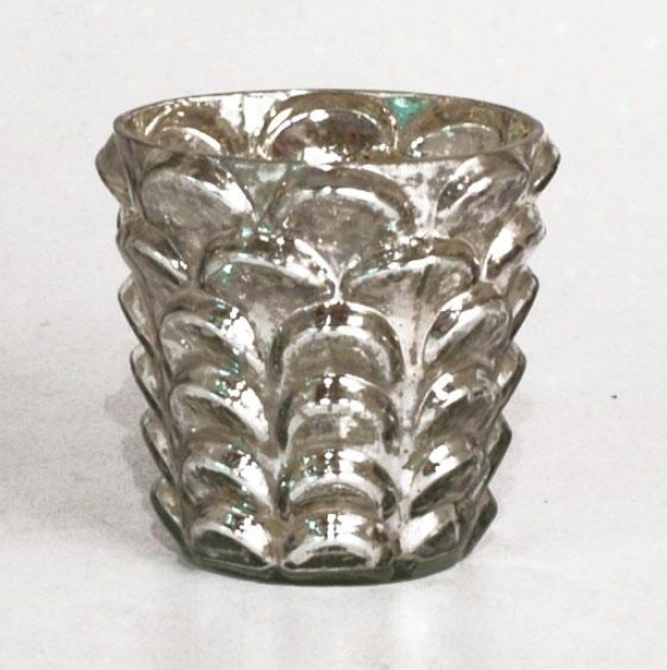 """anthony Hurricane - Large: 4h X 4""""rd, Silver"""