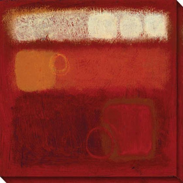 Anticipation Ii Canvas Wall Art - Ii, Red