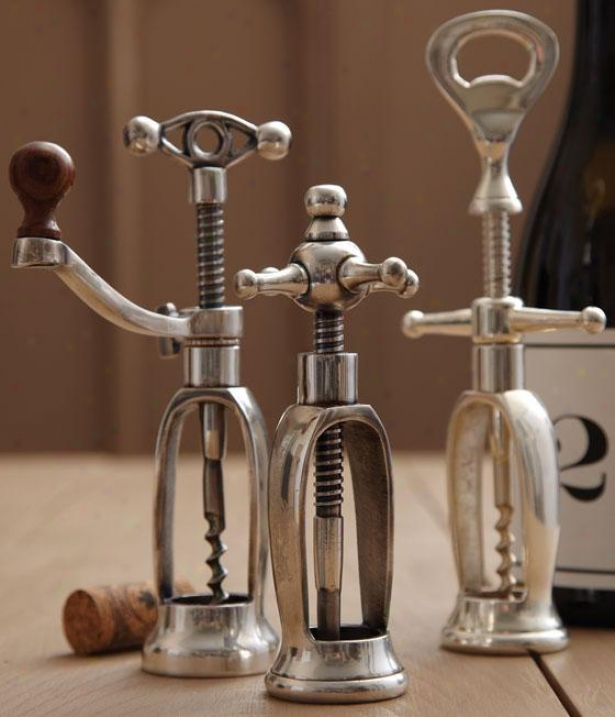 Antique Corkscrew - Set Of 3 - Set Of Three, Silver