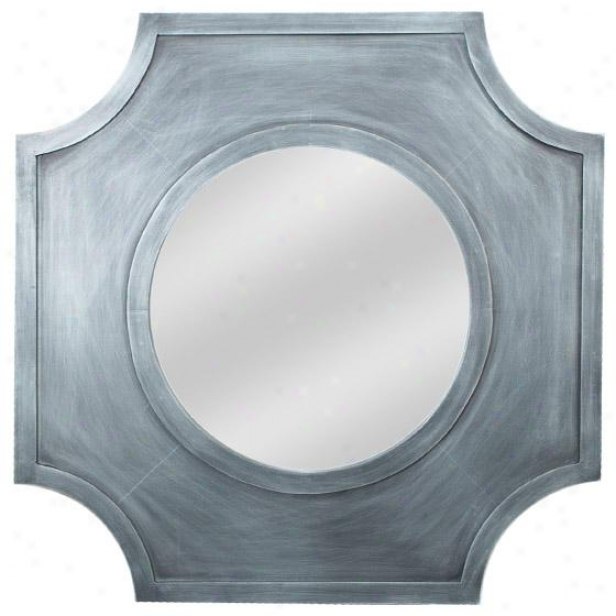 Antiqued Wall Reflector - 17hx17w, Green