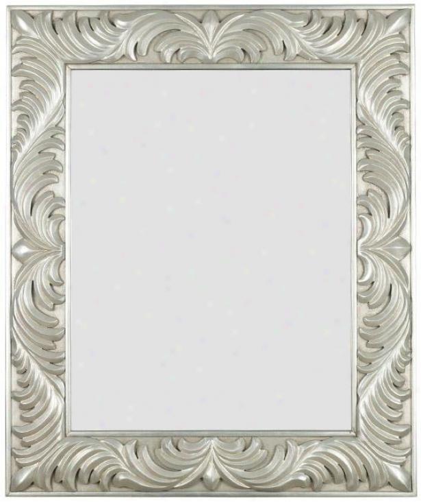 """antoinette Wall Mirror - 38h X 32""""w, Silver"""