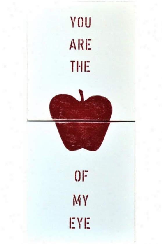 """apple Of My Eye Wooden Sign - 20 X 44"""", Pure"""
