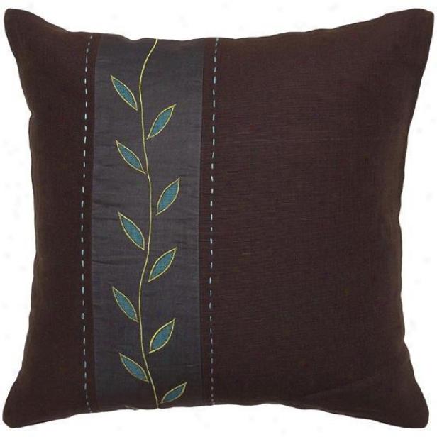 """aqua Gordon Pillows - Set Of 2 - 18""""x18"""", Chocolate Brown"""