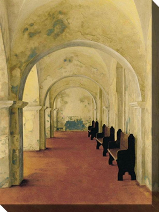 """arcos Antiguas Canvas Wall Art - 48""""hx36""""w, Ivory"""