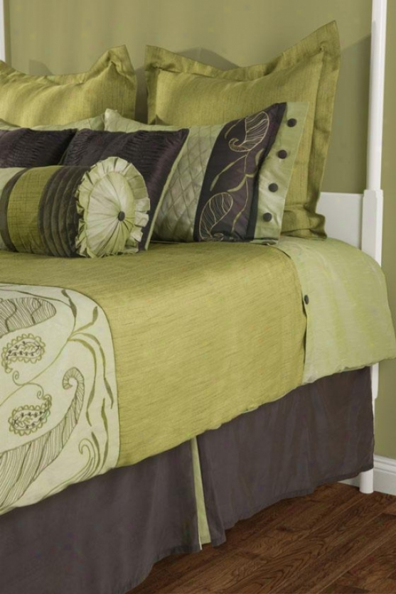 Arianna Bedding Set - Queen 9pc Set, Unripe