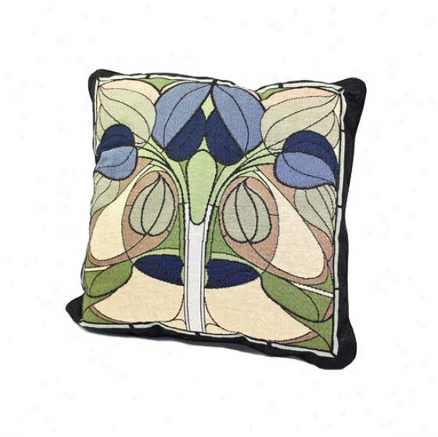 Art Nouveau Floral Window Decorative Pillow - 5hx18wx4d, Multi