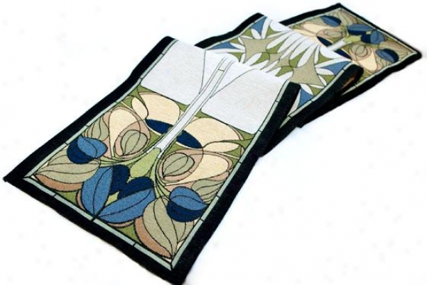 Art Nouveau Floral Window Table Linens - Table Runner, Multi
