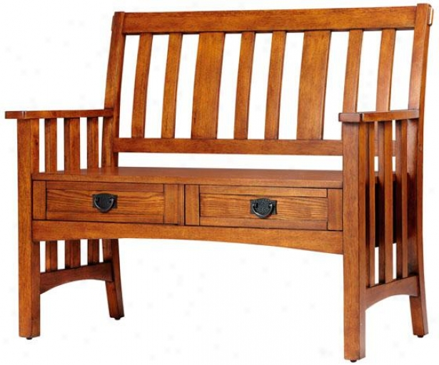 """artisan Bench With Drawers - 42wx23dx36h"""", Brown"""