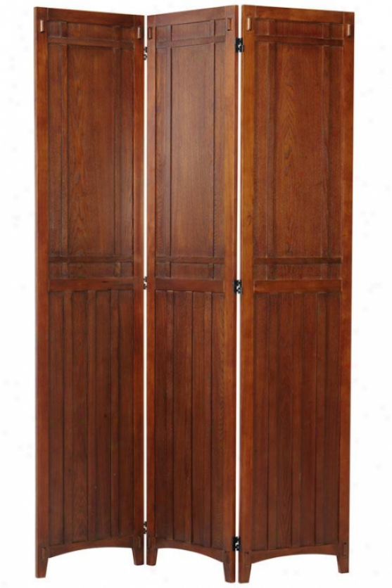 """artisan Rustic Folding Screen - 72hx48wx0.8""""d, Brown"""