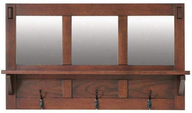 """""""artisan Wall Shelf - 30wx8dx18h"""""""", Brown Oak"""""""