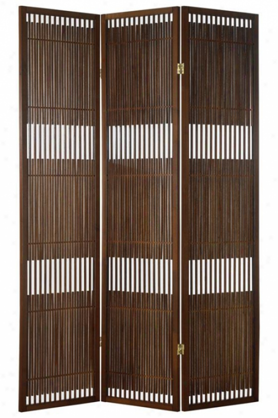 Ashville Folding Screen - 70hx52wx1d, Brown Forest