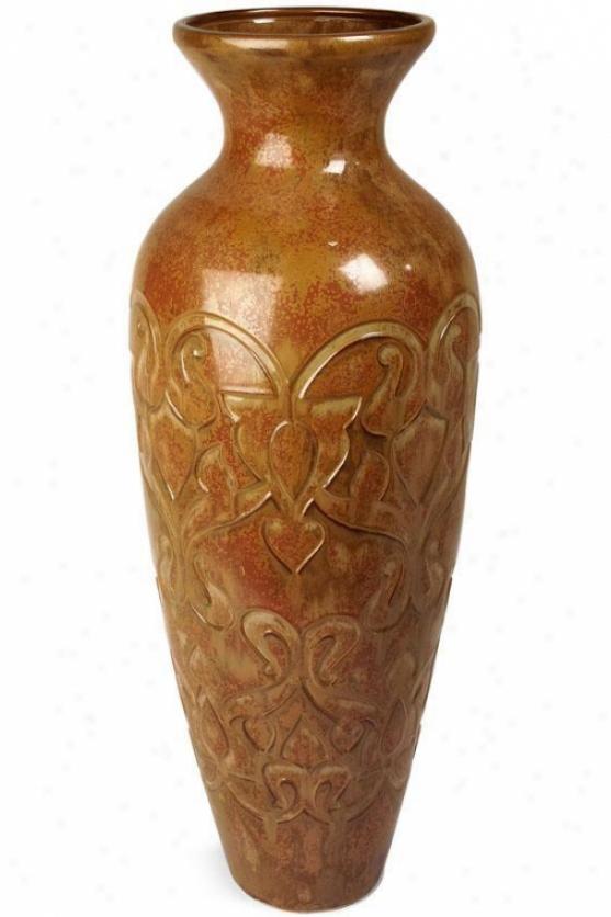 Asian-inspired Ceramic Floor Vase