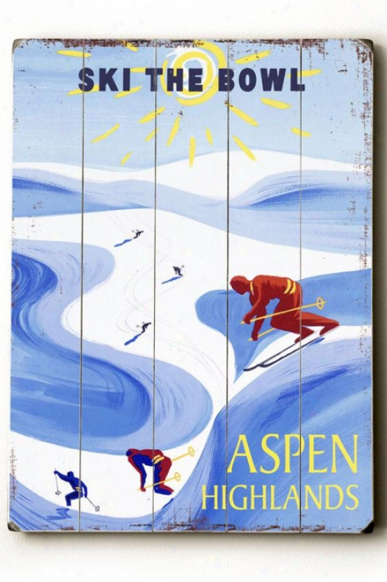 """aspen Highlanes Awkward Sign - 20""""h X 14""""w, Blue"""
