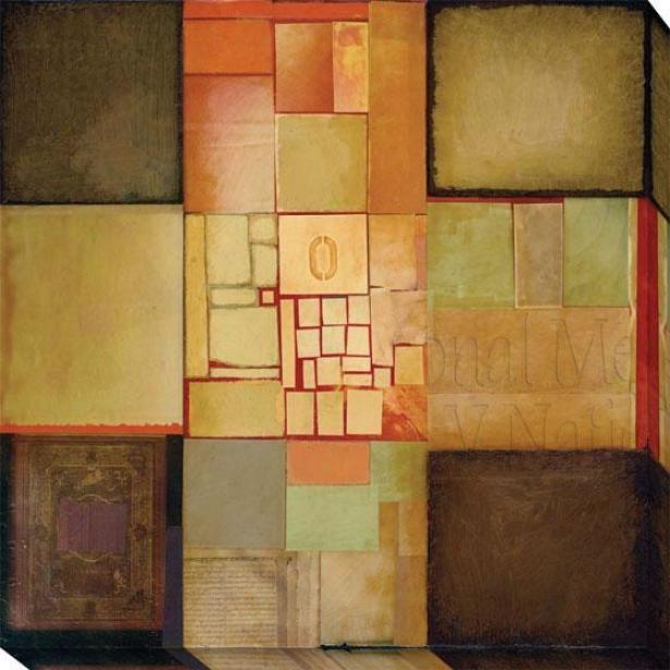 Assemble I Canvas Wall Art I - I, Earthtones