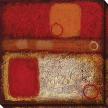 Attraction Iii Canvas Wall Cunning - Iii, Red